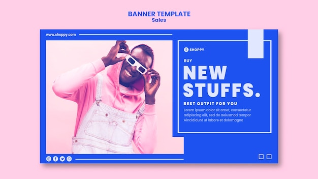 Outlet sale template banner
