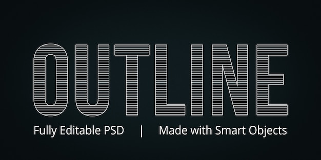 Outline text style