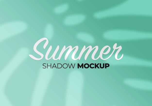 Overlay shadow mockup of summer monstera leaves