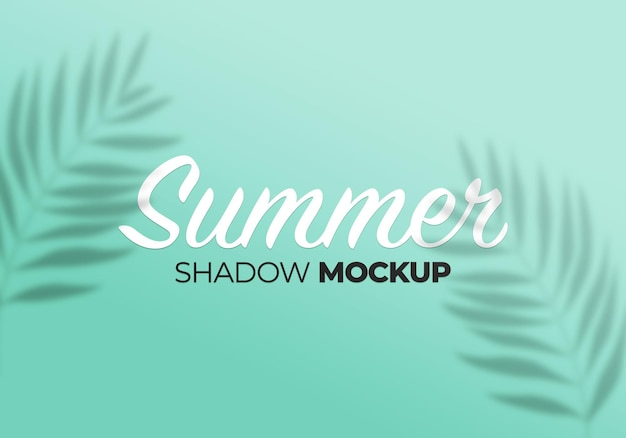 Overlay shadow mockup of summer palm leaves on a wall