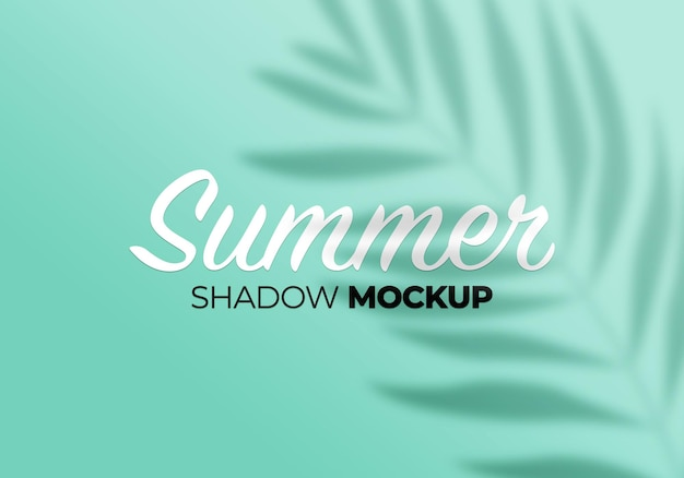 Overlay shadow mockup of summer palm leaves