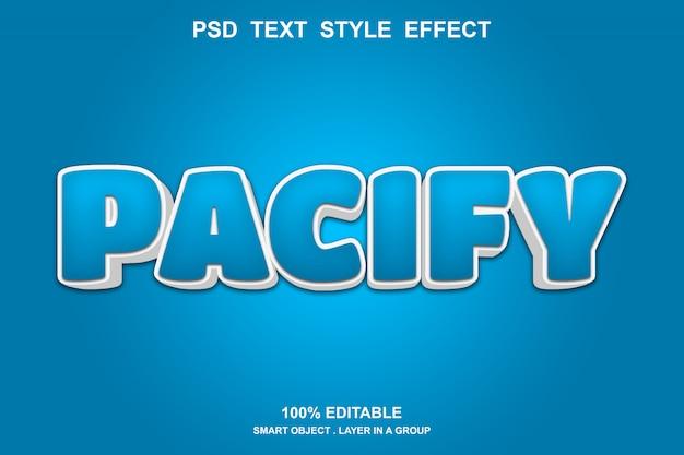 Pacify 텍스트 효과 템플릿