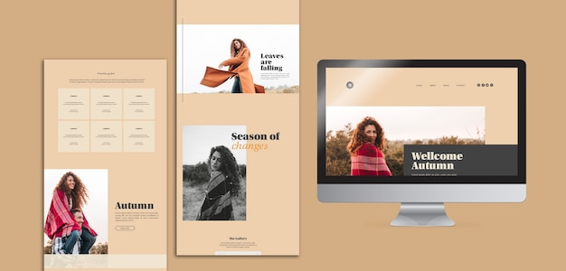Pack of autumn web templates