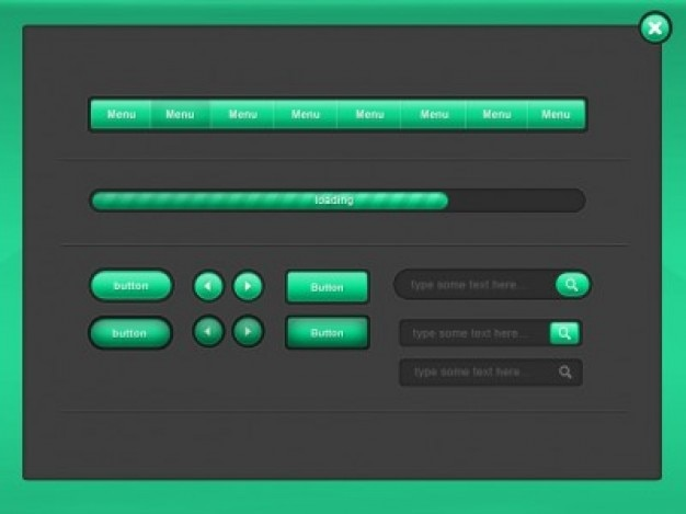 Pack green ui elements