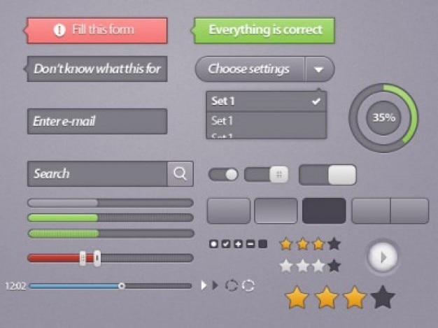Pack of gui elements