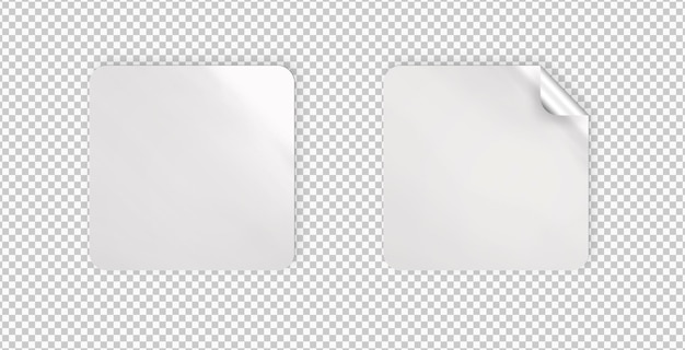 Pack of isolated rectangle stickers