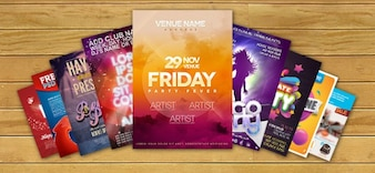 Pack of flyer templates PSD