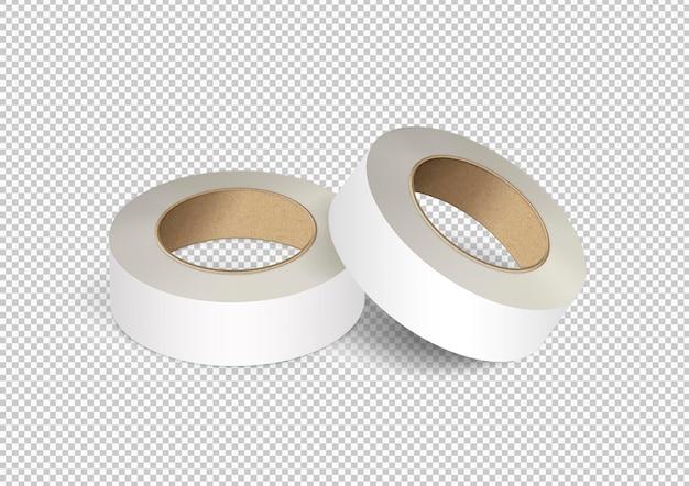 격리 된 흰색 덕트 테이프 팩