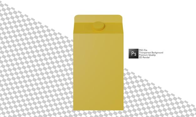 パッケージミルクイラスト3dデザイン