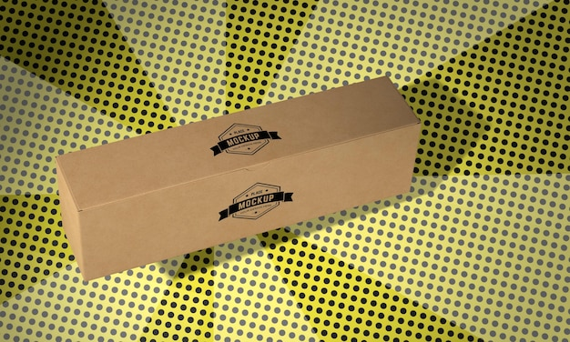 Mock-up del concetto di scatola di imballaggio