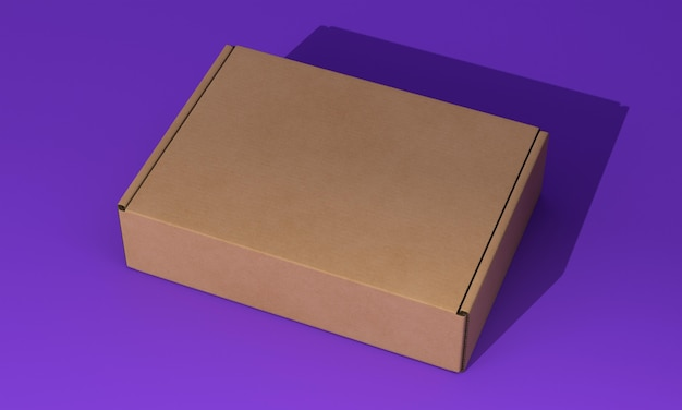 Макет концепции упаковочной коробки
