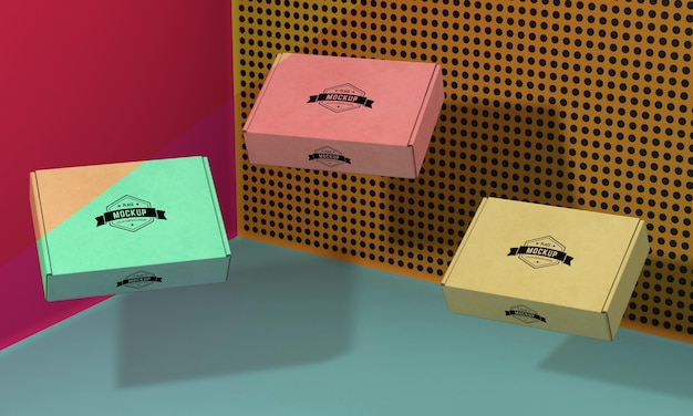 Packaging box mock-up arrangement