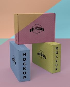 Disposizione del mock-up della scatola di imballaggio