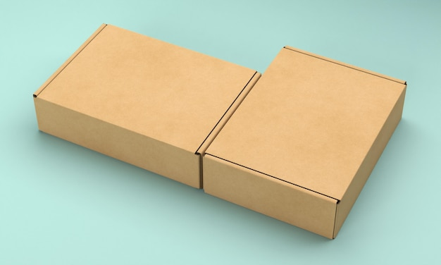Packaging box mock-up