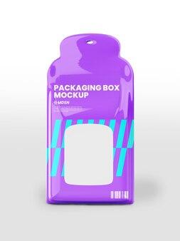 포장 상자 모형 디자인 렌더링 절연
