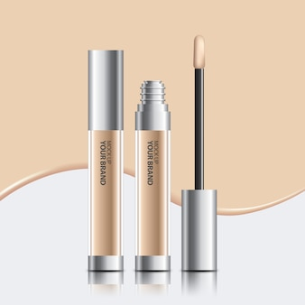 Packaging cosmetic concealer mock up