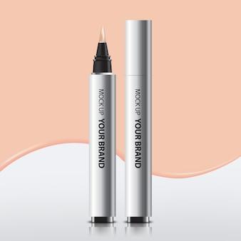 Packaging cosmetic concealer mock up