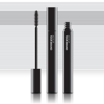 Packaging cosmetic mascara mock up