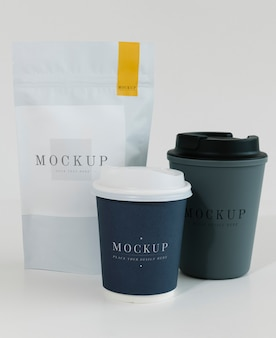 Packaging mockup per un coffee shop