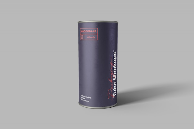 Packaging tube mockup