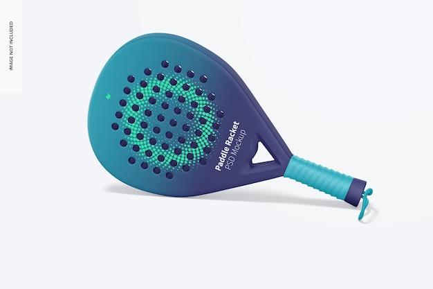 Paddle racket mockup, appoggiato