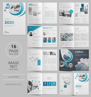 Page business brochure template