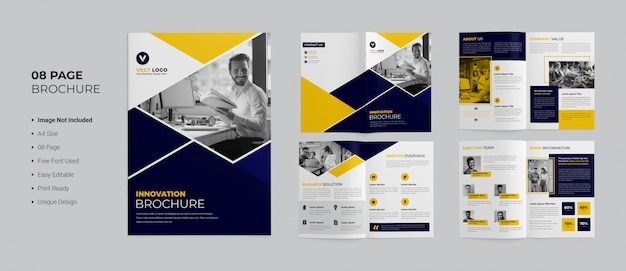 Pages business brochure