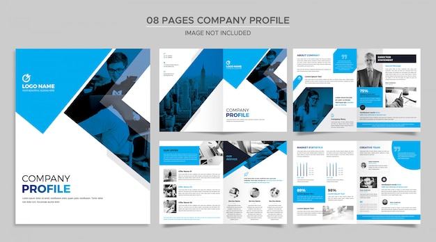 Pages company profile template