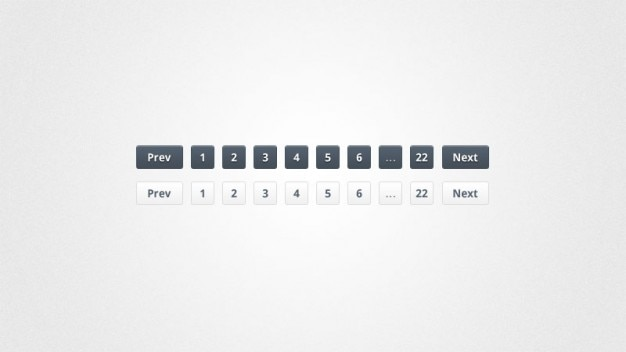 Pagination buttons in black and white