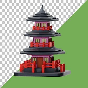 Пагода 3d иллюстрация