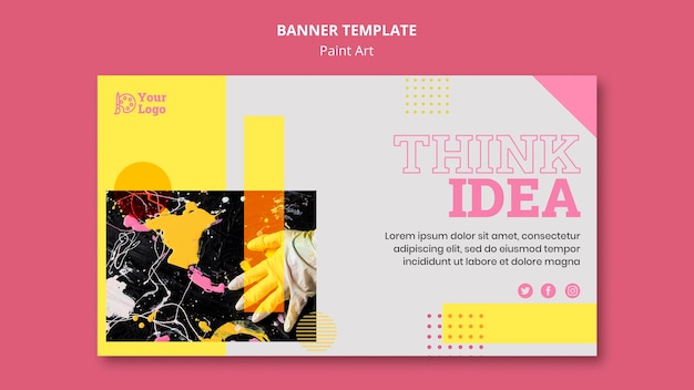 Paint art concept banner template