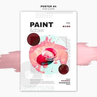 Paint concept poster template