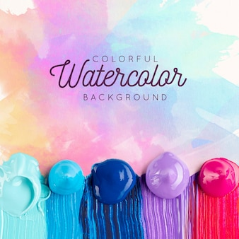 Paint concept watercolor background mock-up