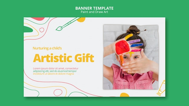 Paint & draw art banner template