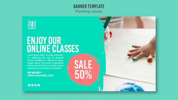Paint and draw banner design