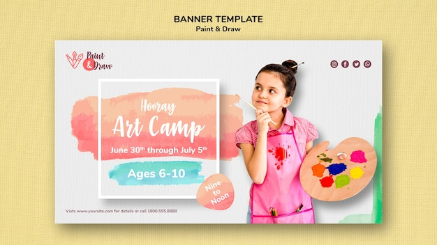 Paint & draw banner