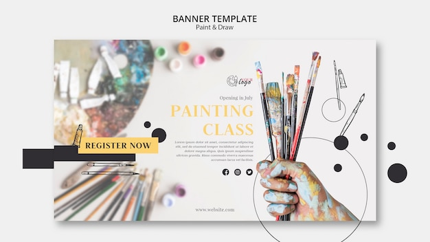 Paint and draw class banner template