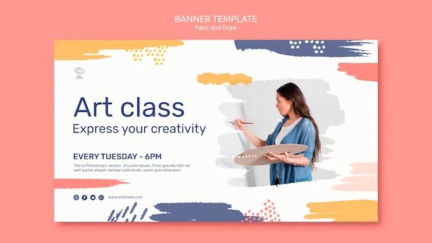 Шаблон баннера для рисования и рисования