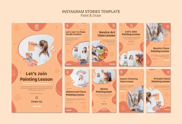 Paint&draw instagram stories template