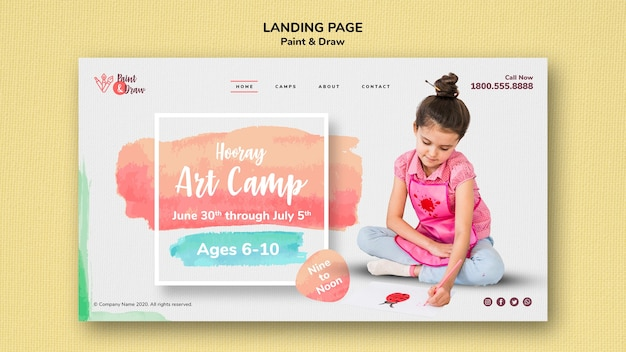 Paint & draw landing page