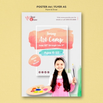 Paint & draw poster theme