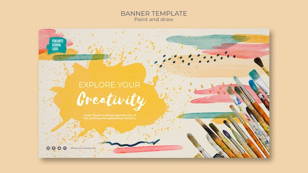 Paint and draw with your favourite colours banner