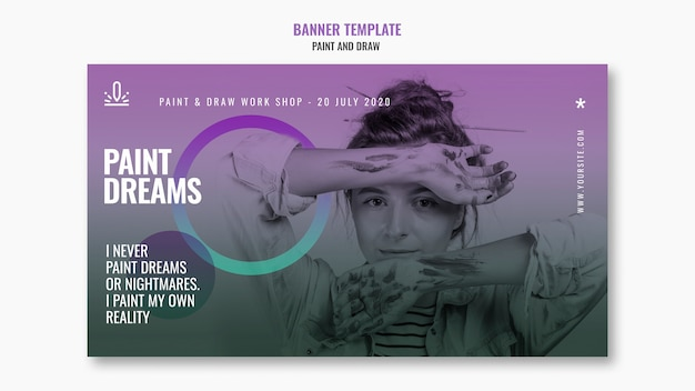 Paint dreams banner template