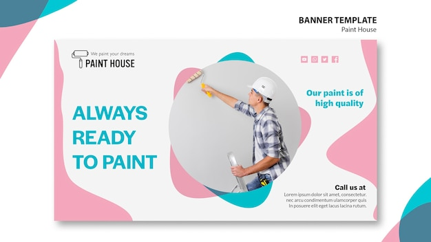 Paint house concept banner template