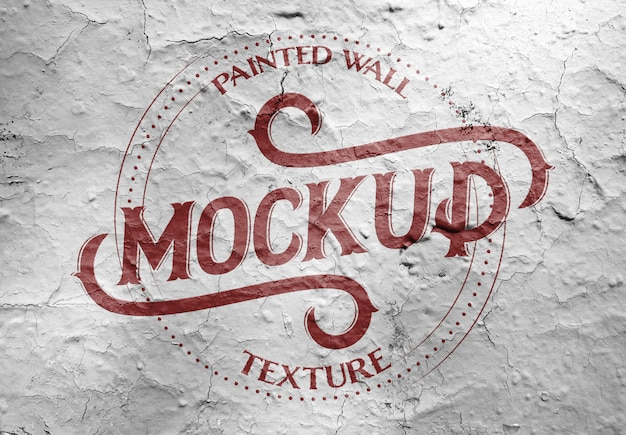 Painted grunge wall texture mockup