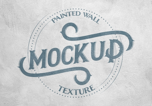 Painted wall texture effect mockup