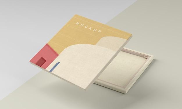 Quadro su tela finto con tessuto di lino