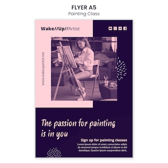 Painting class flyer template