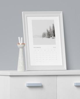 Concetto di pittura per il calendario mock-up