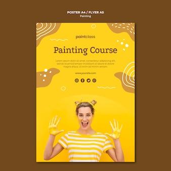 Modello di poster concetto di pittura